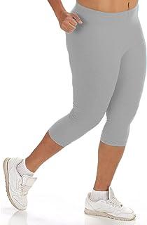 4a4f3d7d2f Women s Plus Size Cotton Solid Capri Leggings (1X to ...