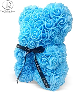 The Teddy Rose-10 Inches Rose Hand Made Artificial Teddy Bear for Graduation, Valentine's Day, Father's Day, Mother's Day, Graduation, Christmas, Anniversary, Birthday, Wedding, Baby Shower