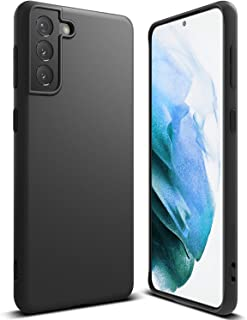 Ringke Air-S Compatible with Galaxy S21 Plus Phone Case 5G, Matte Satin Textured Soft Feel TPU Cover - Black