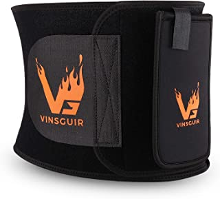Vinsguir Waist Trainer for Weight Loss, Waist Trimmer Slimming Body Shaper Belt, Low Back and Lumbar Support, Belly Fat Bu...