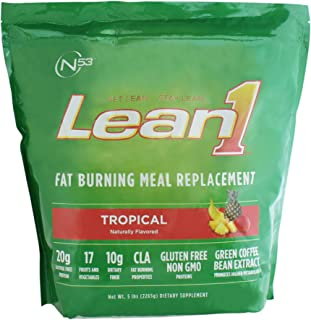 Lean1 Tropical 5 Pound (43 Servings), Fat Burning Meal Replacement