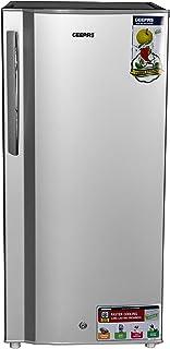 Geepas GRF2059SPE Semi Auto Defrost Single Door Refrigerator, 200L