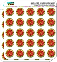 Christmas Holiday Poinsettia Flower Crown Planner Calendar Scrapbooking Crafting Stickers