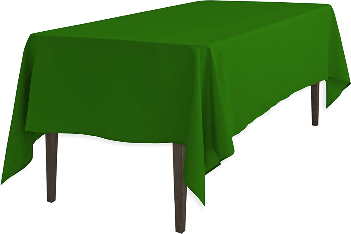 LinenTablecloth 60 X 126 Inch Rectangular Polyester Tablecloth Valley Green