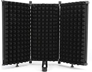 Microphone Isolation Shield, Three‑Door Soundproof Screen, Audio Equipment for Noise Reduction Recording Noise Barrier