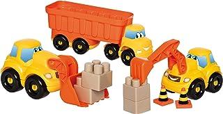 Jouets Ecoiffier -3346 - Coffret véhicules de chantier Abrick – Jeu de construction pour enfants – Dès 18 mois – Fabriqué ...