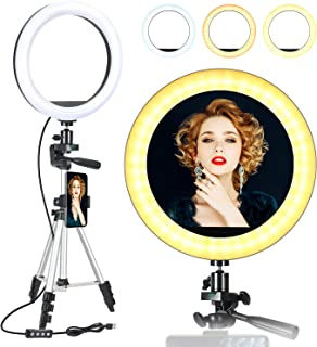 "ODOM Small Ring Light, LED Ring Light 6"" with Tripod Stand for Zoom Calls/Meeting YouTube Video, Portable for Travel or Li..."