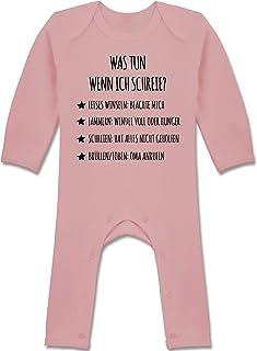 Shirtracer Strampler Motive - Schreianleitung, was tun wenn ich Schreie - Baby-Body Langarm für Jungen und Mädchen