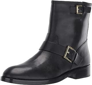 Michael Michael Kors Reeves Bootie Black Vachetta/Stacked Heel 7.5
