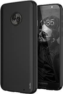 Aeska Moto G6 Plus Case, Ultra [Slim Thin] [Matte] Flexible TPU Gel Rubber Soft Skin Silicone Protective Case Cover for Motorola Moto G6 Plus (Black)