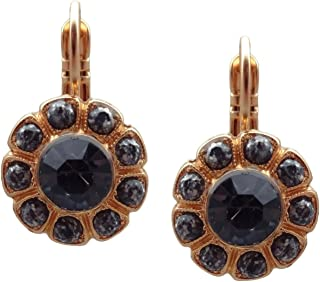MARIANA 1035 Luxury Montana w/Mineral Stones Flower Swarovski Crystal Gold Plated Earrings 7/8