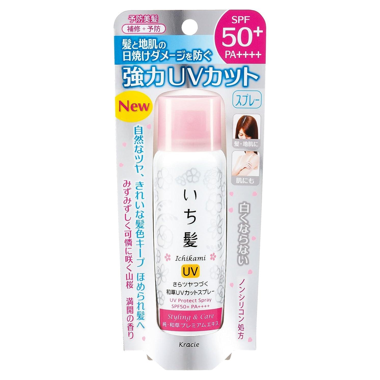 平手打ち床を掃除する加速するいち髪 さらツヤつづく和草UVカットスプレー 50g