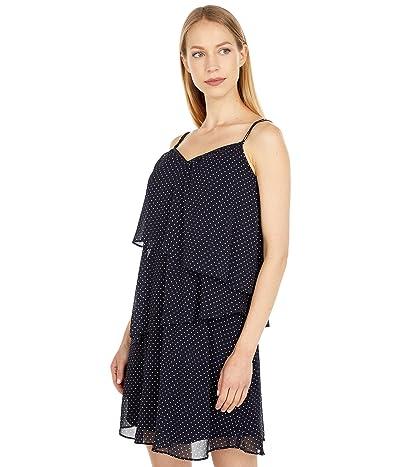 LAUREN Ralph Lauren Polka Dot Georgette Sleeveless Dress