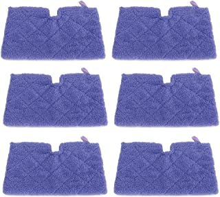 ECOMAID 6pcs Steam Mop Pads for Shark Steam Pocket Mops S3500 Series S2901 S2902 S3455K,S3501,S3550,S3601,S3801,S3801CO,S3901,S4601,S4701,S4701D,SE450