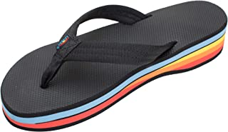 Rainbow Sandals Women's Four Layer Black Rubber 3/4
