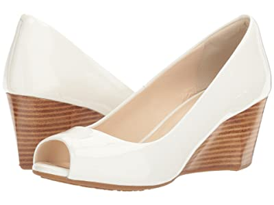 Cole Haan Sadie Open Toe Wedge 65mm (Optic White Patent) Women