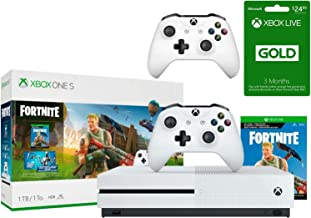 Xbox One S Fortnite Eon Cosmetic Epic Bundle: Fortnite Battle Royale, Eon Cosmetic, 2,000 V-Bucks, Xbox One S 1TB Console w/ 4K Blu-Ray Player, 2 Wireless Controller, 3-month Xbox Live Gold Membership