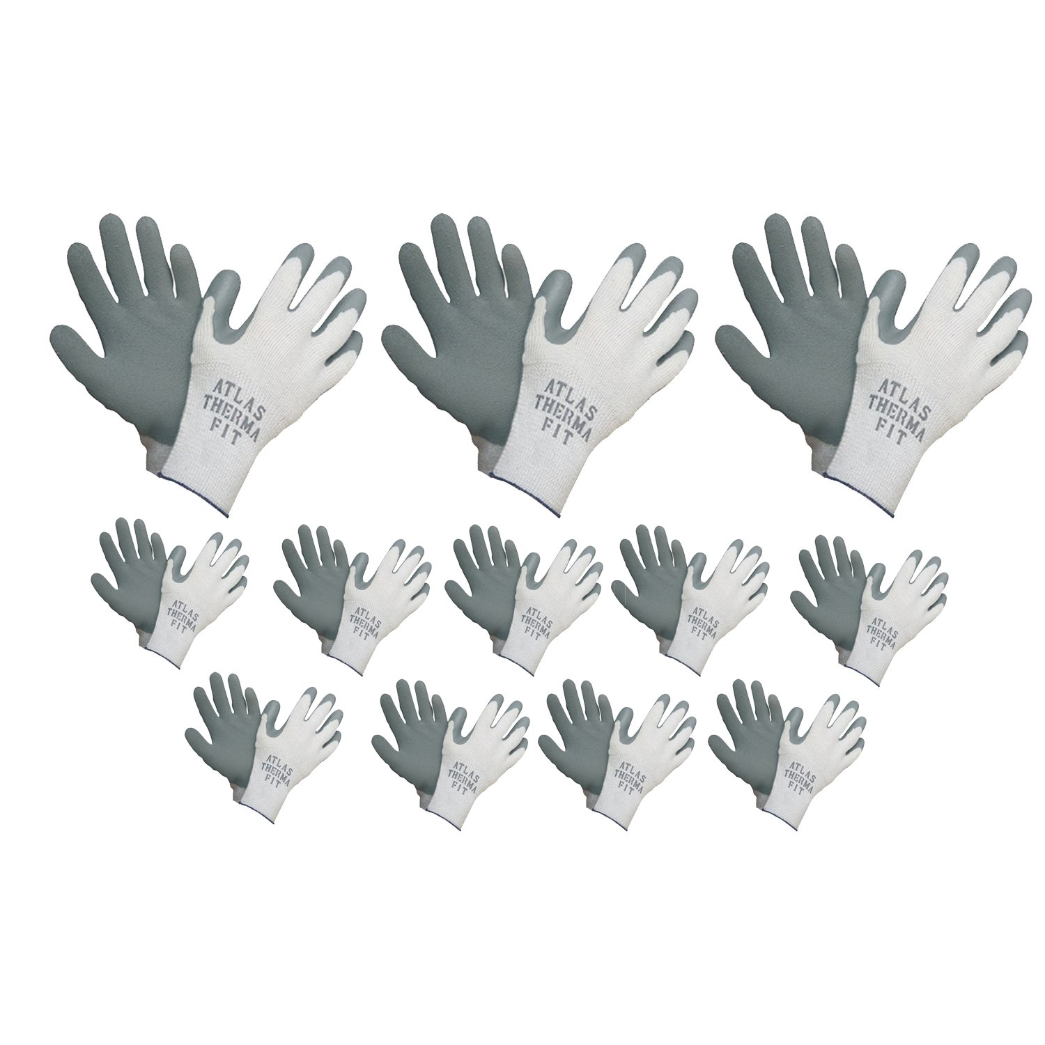 Max 60% OFF Showa Atlas 451 Gray Thermal Pair Gloves Small Work 12 Animer and price revision
