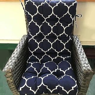 وسادة كرسي من قطعة واحدة غير كرسي، وسادة كرسي هزاز سميك مقاوم للماء ، وسادة استرخاء قطنية مريحة للمقعد تخفف ، 53 * 53/63 *...