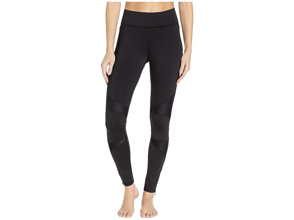 MICHI Moto Zip Leggings (Black) Women