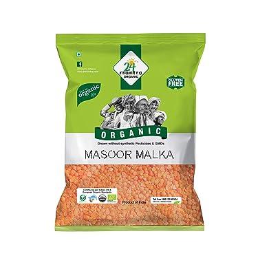 24 Mantra Organic Masoor Malka Dal, 500g