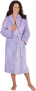 Image of Lightweight Soft Fleece Lavender Robe for Women - See More Colors