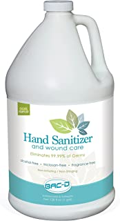 BAC-D 630 Alcohol Free Hand Sanitizer and Wound Care, 1 Gallon Refill, 128 oz. (Pack of 1)