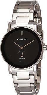 ساعة كوارتز من سيتيزن للرجال، بشاشة عرض انالوج وسوار ستانلس ستيل، BE9180-52E