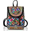 Goodhan Vintage Women Embroidery Ethnic Travel Backpack