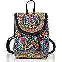 Goodhan Vintage Women Embroidery Ethnic Travel Backpack