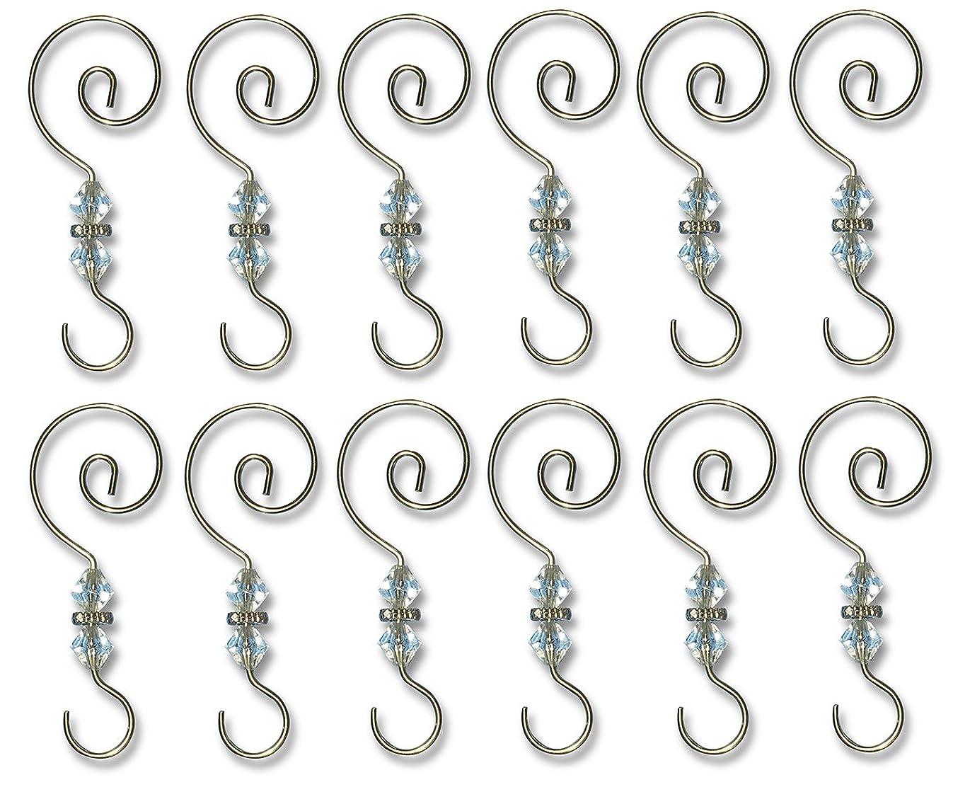 BANBERRY DESIGNS Christmas Ornament Hooks - 12 Pack - Decorative Christmas Tree Ornament Hangers