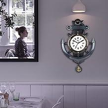 EFINITO Plastic Pendulum Wall Clock (Black_20 Inch X 16 Inch X 1 Inch)