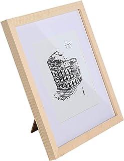 Classic by Casa Chic - Marco de Madera - para Fotos de 30 x 30cm o de 25 x 25cm con el paspartú - Frente de Cristal Templado - Despintado