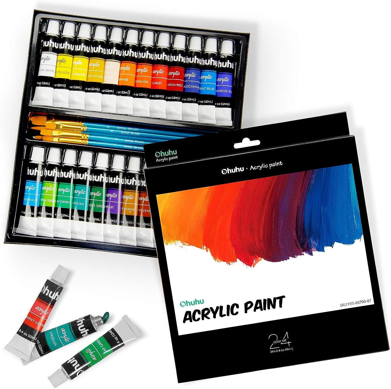 Ohuhu acrylic paint acrylic paint 24 colors tube tube tube