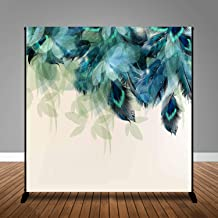 MME 10x10Ft Peacock Feathers Backdrop Elegant Sample Background Girls Lady Family Props Vinyl Photography Video GEME118