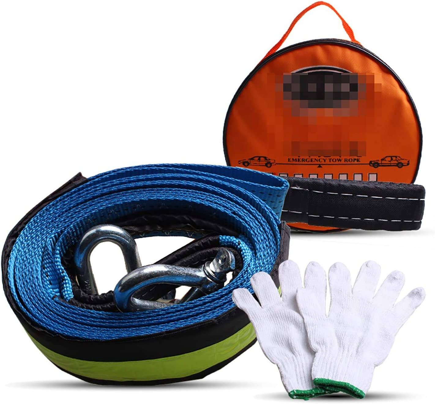 HEQCG Popular Max 51% OFF popular Tow Rope Traction 3 4 tons Doubl Bearing 5m 8 Long