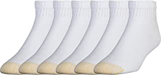 Men's 656p Cotton Quarter Athletic Socks, 6 Pack