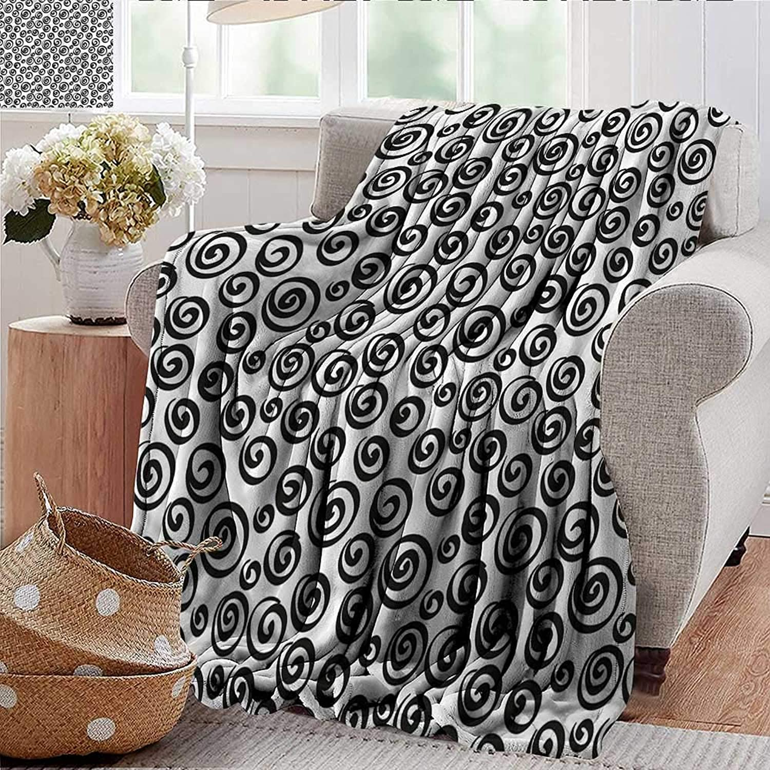 Xaviera Doherty Summer Blanket Abstract,Minimalist Spiral Forms Weighted Blanket for Adults Kids, Better Deeper Sleep 35 x60