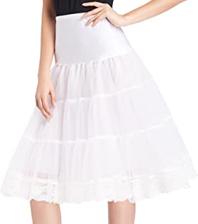 GRACE KARIN Women's Vintage Lace Petticoat Crinoline Tutu Underskirts