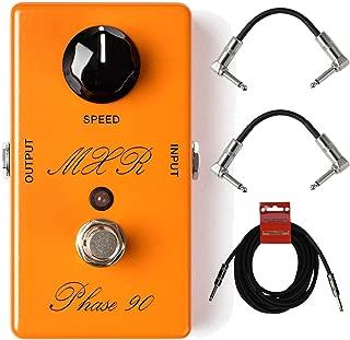 MXR CSP101SL Vintage Script Phase 90 Analog Guitar Effect Pedal with Cables