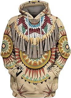 Iuhan Mens Sweater 3D Printed Vintage Ethnic Style Hoodie Blouse Long Sleeve Sweatshirt Coat Jacket Regular and Big Sizes Oversized Autumn Winter