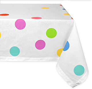 """DII 100% Cotton, Machine Washable, Dinner, Summer & Picnic Tablecloth,60 x 84"""", Birthday Confetti, Seats 6 to 8 People"""