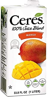 Ceres 100% All Natural Pure Fruit Juice Blend, Mango - Gluten Free, Rich in Vitamin C, No Added Sugar or Pr...