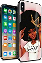 KITATA iPhone Xs Max Case for Women Girly Cover Protective, African American Black Women Afro Girls Africa Melanin Crown Dream Design, Slim Fit Thin Grip Soft TPU and Hard Plastic Phone Cases