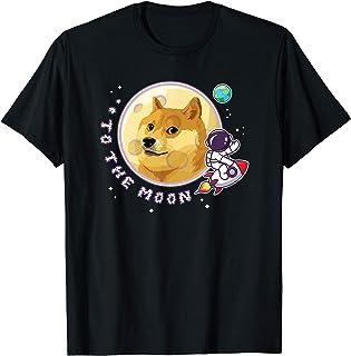 Dogecoin ドージコイン月へ月にTo the Moon HODL 暗号通貨Doge Memeドージミーム Tシャツ