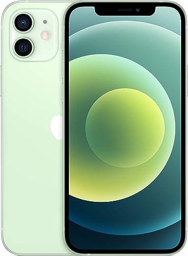 جوال ابل ايفون 12 الجديد مع تطبيق فيس تايم، بذاكرة تخزين 128 جيجا، لون اخضر