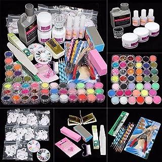 Tongshi onsejos de uñas de 26Acrylic polvo líquido cepillo brillo Clipper Primer archivo Set Kit