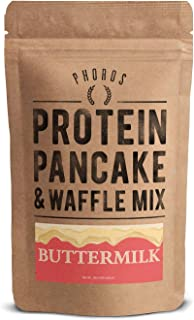 Protein Pancake Mix by Phoros Nutrition, High Protein Low Carb, 12oz (Buttermilk)