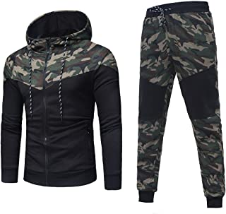 903a73f9bf8e2 Men Sport Suit Camouflage Top Fitness Sports Hoodie Sweatpants Tracksuit