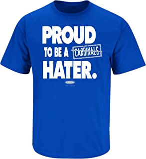 Kentucky Fans. Proud to Be A Hater Blue T-Shirt (S-5X)
